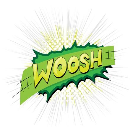 Woosh - Comic Expression  Text Illustration