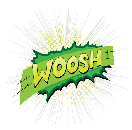 Woosh - Comic Expression  Text Illustration