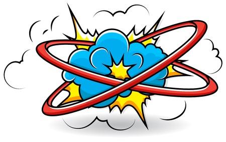 Comic Book Cloud Explosion Stock Vector - 19419739