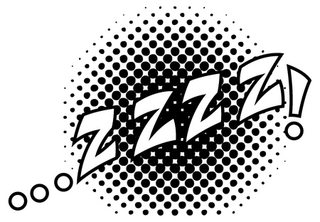 zzz Comic Expression Stock Vector - 19419731