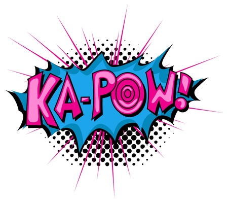 Ka Pow - Comic Expression  Text Illustration
