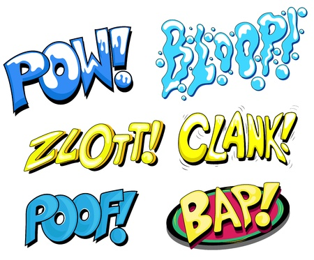 Set of Comic Expression  Text Vector