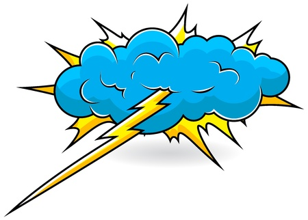Comic Explosion Cloud  Illustration Stock Vector - 19419716