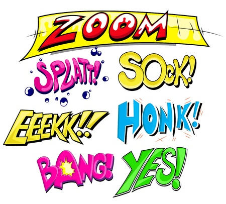Comic Expression  Text Set Vector