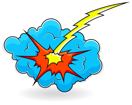 Comic Explosion Cloud Burst  Illustration Vector