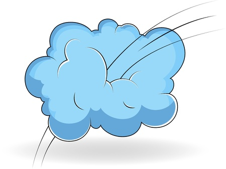 Comic Cloud Vector