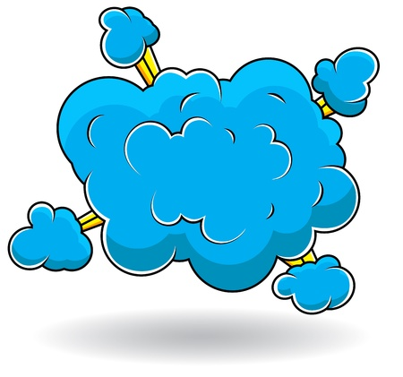 Comic Explosion Cloud Burst  Illustration Stock Vector - 19419717