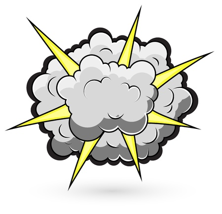 Comic Fighting Cloud Burst  Illustration Vector