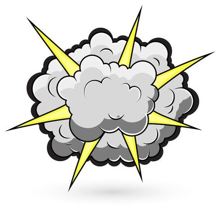 Comic Fighting Cloud Burst  Illustration Illustration