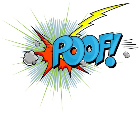 Poof - Comic Expression  Text Vector