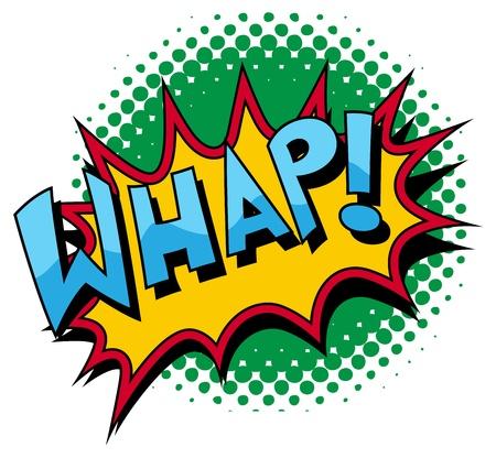 Whap - Comic Expression Tekst Stock Illustratie