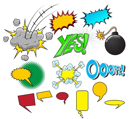 Comic Explosion  Illustration Vector
