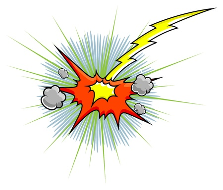 Comic Explosion  Graphic Stock Vector - 19419742