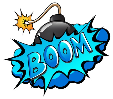 Boom - Comic Expression  Text Stock Vector - 19419778