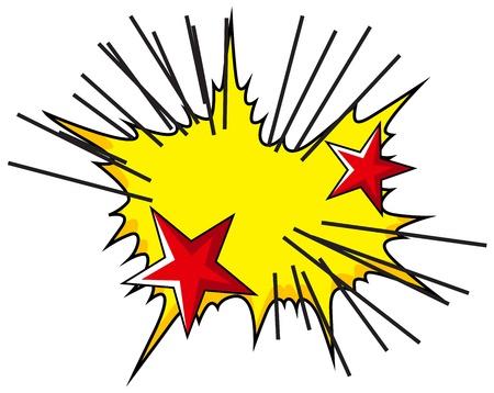 nuclear bomb: Burst Comic Vectores