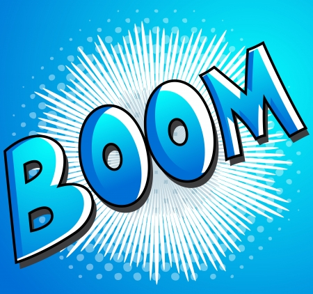 Boom - Comic Expression  Text Vector
