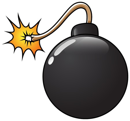 Funny Bomb  Illustration Vector