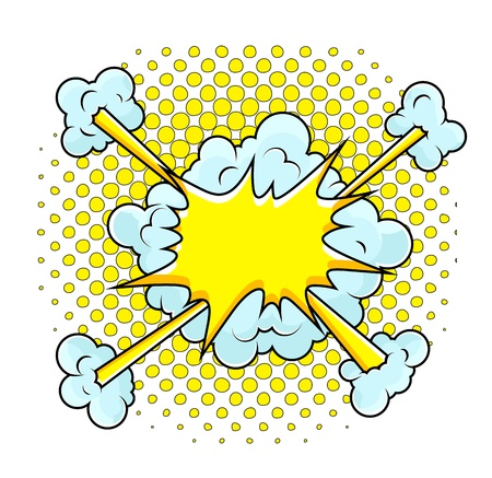 Comic Explosion  Illustration Stock Vector - 19419770