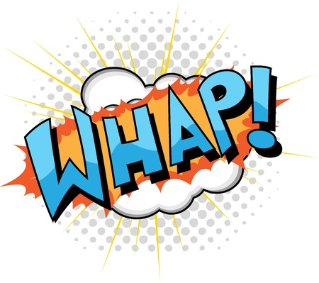 Whap - Comic Expression  Text Stock Vector - 19419741