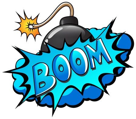 Boom - Comic Blast Expression  Text Vector