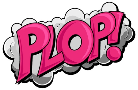 Plop - Comic Cloud Expression  Text Vector