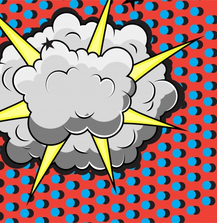 Comic Explosion Design Vector
