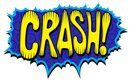 Crash - Comic Expression  Text Vector