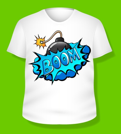 Design On T-shirt Stock Vector - 19419787