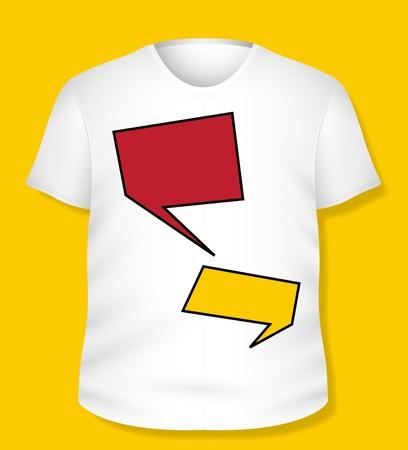 Chat Bubble White T-shirt Design  Illustration Template Stock Vector - 19419789