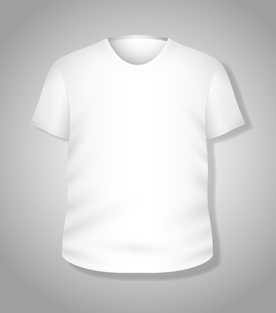 Simple White T-shirt Design  Illustration Template Stock Vector - 19419822