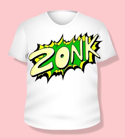 Comic T-shirt Design Stock Vector - 19419792