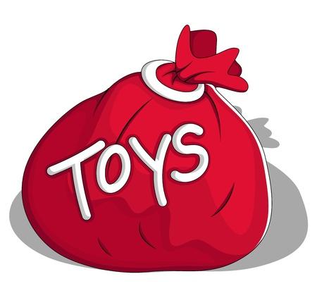 Toys Bag  Illustration Stock Vector - 19419816