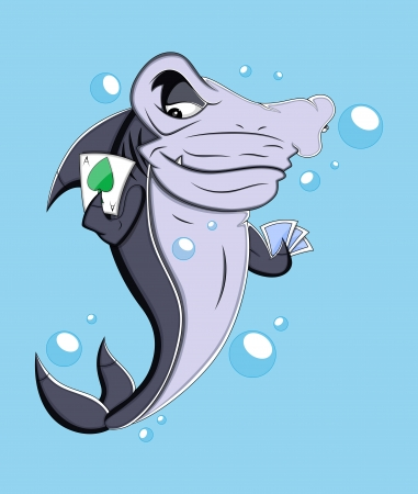 Mafia Shark  Illustration Vector