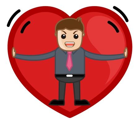 irritate: Man Stuck in a Heart