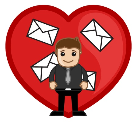 confess: Man with Love Letters Concept