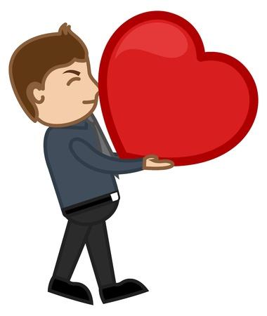 irritate: Man holding Heavy Heart