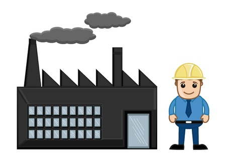 building inspector: An Engineer Standing Outside a Factory