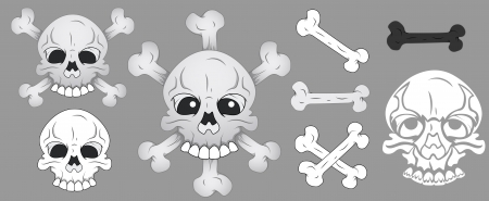 Skull and Bone Illustration Stock Vector - 20728621