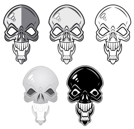 Skulls Illustrations Stock Vector - 20728627
