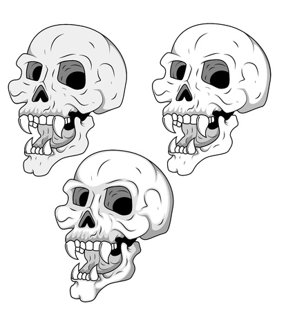 Creepy Skull set Illustration