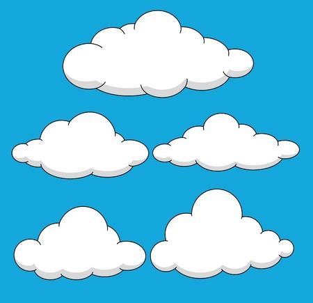 nubes caricatura: Nubes Ilustraciones Vectores