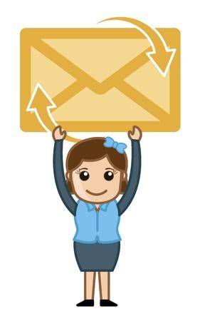 E-mail Envelope Illustration Vector