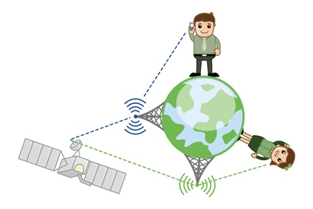 Mobile Network Illustration Vector