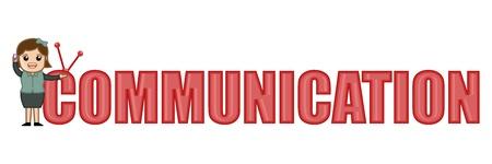 Communication Text Illustration Stock Vector - 20728532