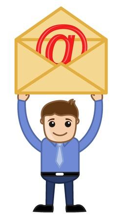 Man Having an E-mail Envelope Stock Vector - 20728517