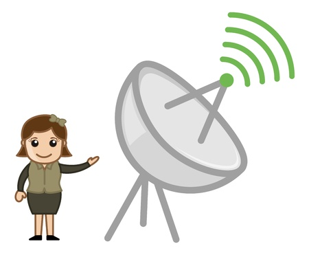 Communication Concept Antenna Vector