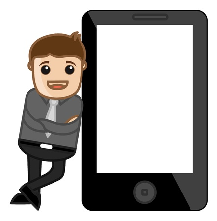 Smartphone Mockup with a Man Stock Vector - 20771393