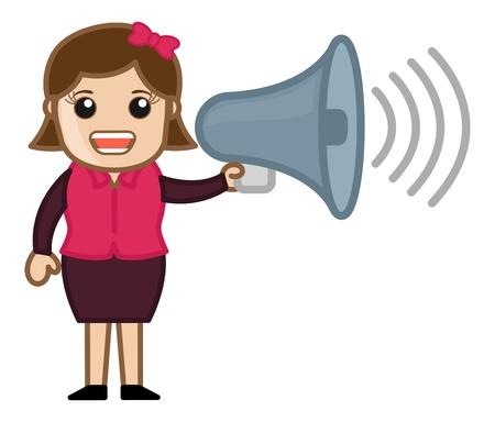 announcing: Girl Announcing Illustration
