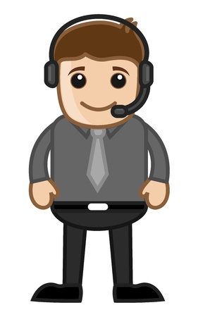 Man with Headphone Stock Vector - 20771290