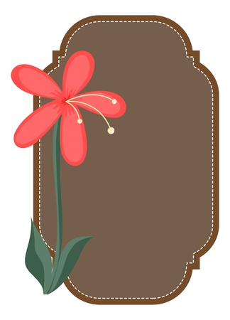 Vintage Style Flower Label Vector Vector